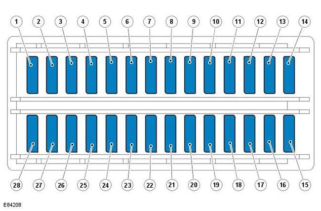 схема блока предохранителей на мазду 6